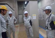 東長崎浄水場現場巡視の写真