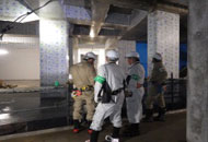 県庁新築現場巡視の写真